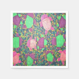 Rainbow Turtles on The Rocks Disposable Napkins
