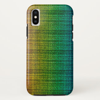 Rainbow Tweed Fabric Look Patterned iPhone X Case