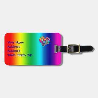 Rainbow Twirl Heart Bag Tag