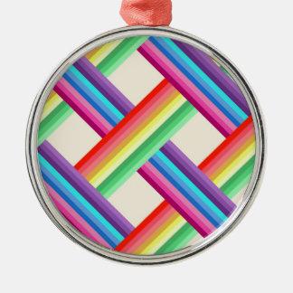 Rainbow Twist Metal Ornament
