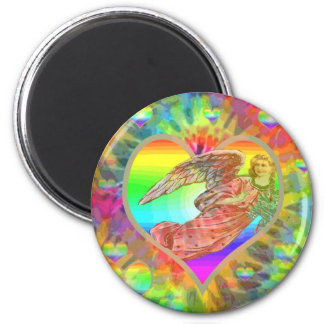 Rainbow Tye Dye Angel Magnet