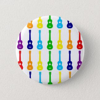 Rainbow Ukes 2 Inch Round Button