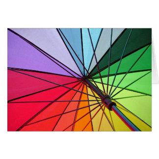 rainbow umbrella card