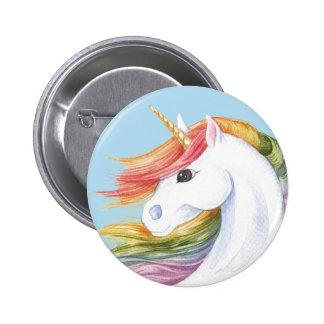 Rainbow Unicorn 2 Inch Round Button