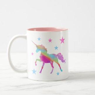 Rainbow Unicorn And Stars Mug