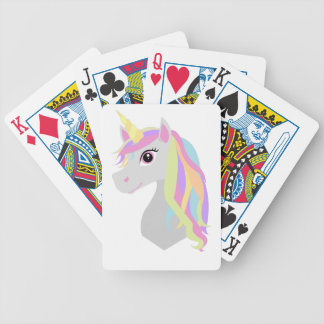 Rainbow Unicorn Bicycle Playing Cards