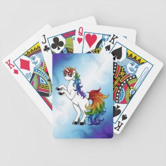 Rainbow Unicorn Bicycle Playing Cards