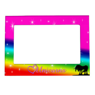 Rainbow Unicorn Birthday Magnetic Frame