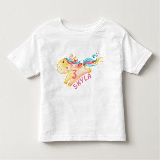 Rainbow Unicorn Birthday Shirt for a Girl
