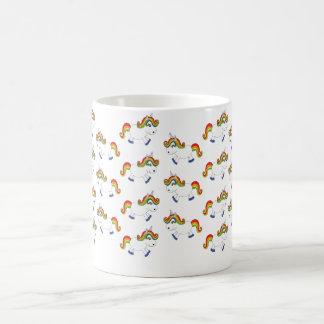 Rainbow unicorn coffee mug