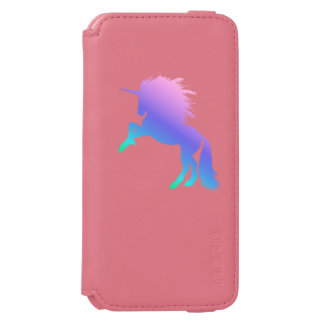 Rainbow Unicorn Coral/Pink iPhone 6/6s Wallet Case Incipio Watson™ iPhone 6 Wallet Case