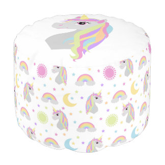 Rainbow Unicorn Dreams Pouf
