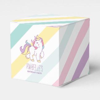 Favour Boxes - Rainbow Unicorn Girls Birthday Party Favor Box