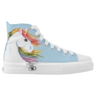 Rainbow Unicorn High Tops