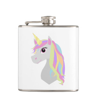 Rainbow Unicorn Hip Flask