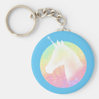 Rainbow Unicorn Keychain