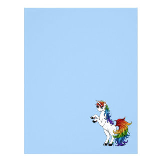 Rainbow Unicorn Letterhead