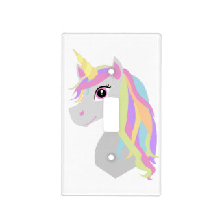 Rainbow Unicorn Light Switch Cover