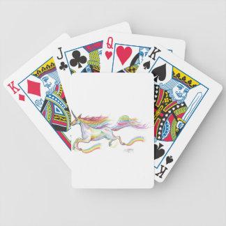 Rainbow Unicorn Pegasus Horse Pony Flying Cute Bicycle Playing Cards