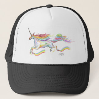 Rainbow Unicorn Pegasus Horse Pony Flying Cute Trucker Hat