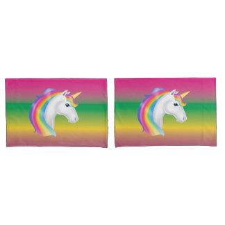 Rainbow Unicorn Pillow Case Set Pillowcase