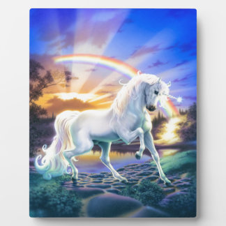 Rainbow Unicorn Plaque