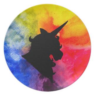 Rainbow Unicorn Plate