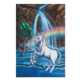 Rainbow Unicorn Poster