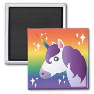 Rainbow Unicorn Sparkle Emoji Magnet