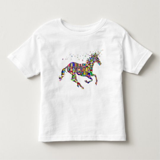 Rainbow Unicorn Toddler Girl T-Shirt