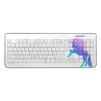 Rainbow Unicorn Wireless Keyboard
