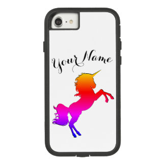 Rainbow Unicorn with Personalized Name Case-Mate Tough Extreme iPhone 7 Case