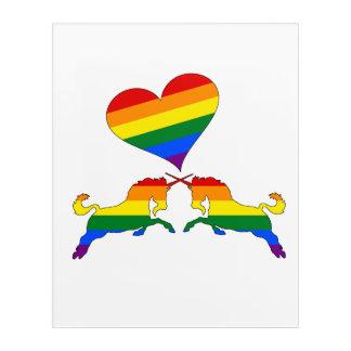 Rainbow Unicorns Acrylic Wall Art