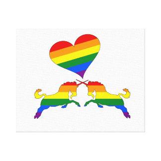 Rainbow Unicorns Canvas Print