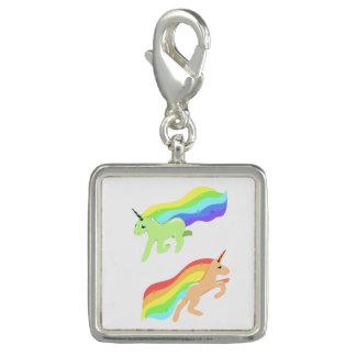 Rainbow Unicorns Charm