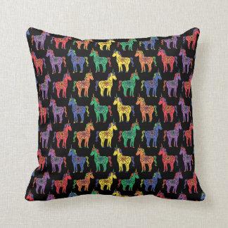 Rainbow Unicorns Colourful Throw Pillow