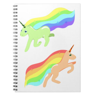 Rainbow Unicorns Notebooks