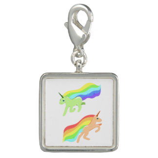 Rainbow Unicorns Photo Charms