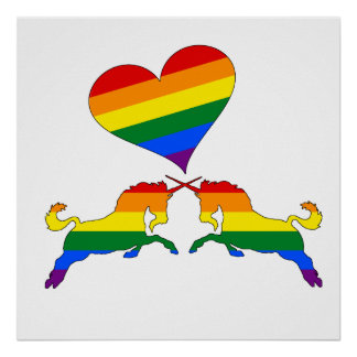 Rainbow Unicorns Poster