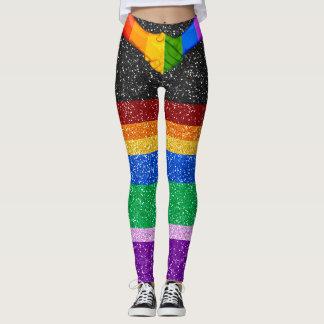 Rainbow Unity Glitter Images Pop Fashion Leggings