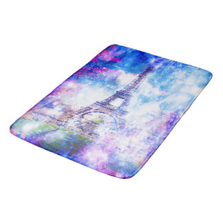 Rainbow Universe Paris Bath Mat