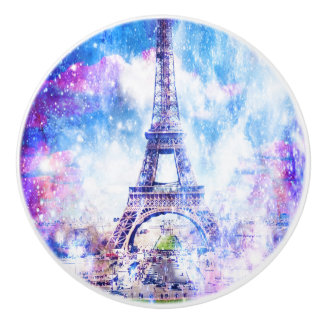 Rainbow Universe Paris Ceramic Knob