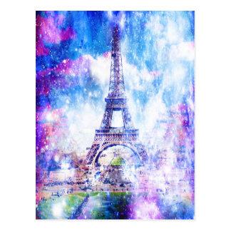 Rainbow Universe Paris Postcard