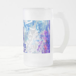 Rainbow Universe Paris The Ones that Love Us Frosted Glass Beer Mug