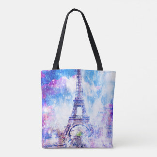 Rainbow Universe Paris Tote Bag