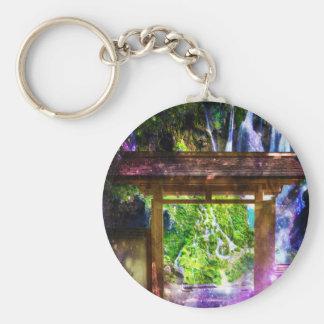 Rainbow Universe's Pathway to Paradise Basic Round Button Keychain