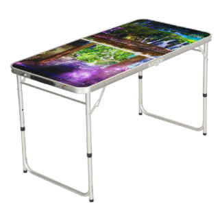 Rainbow Universe's Pathway to Paradise Beer Pong Table