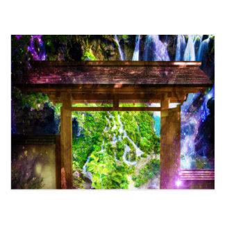 Rainbow Universe's Pathway to Paradise Postcard