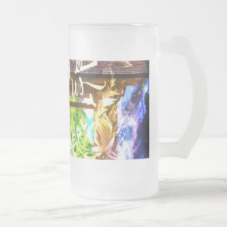 Rainbow Universe's Pathway to the Ones that Love Frosted Glass Beer Mug