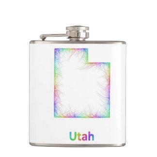 Rainbow Utah map Flasks